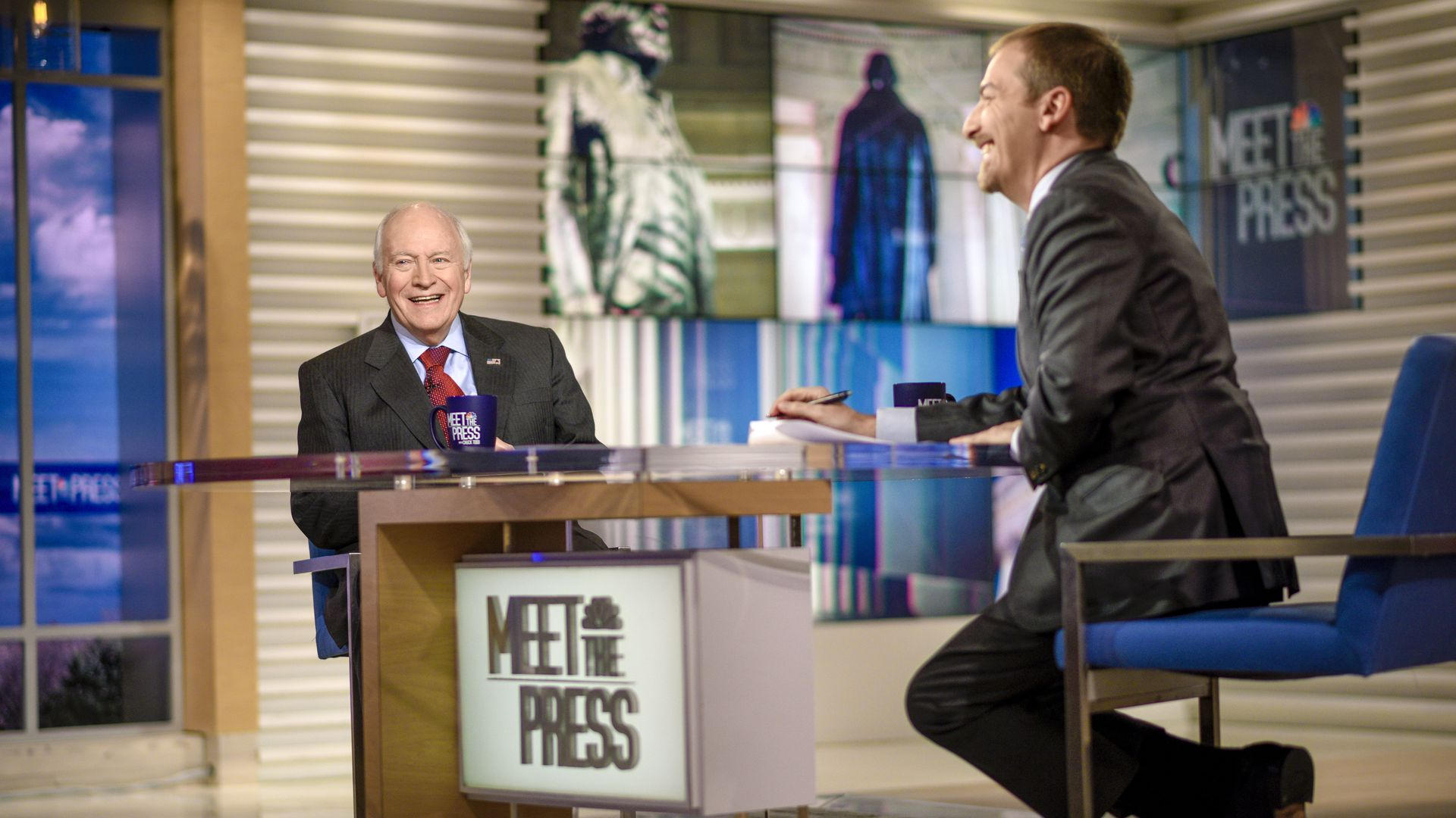 Chuck Todd with Dick Cheney