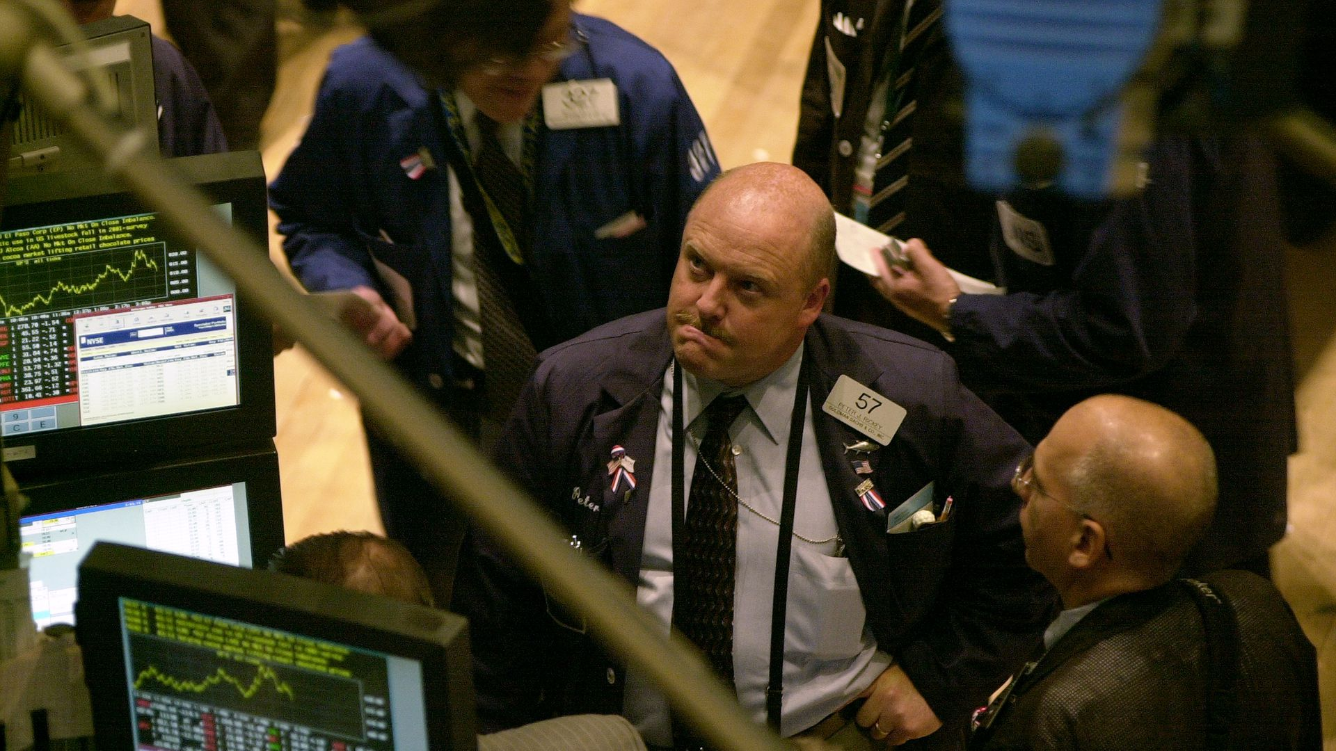 A trader on the floor of the exchange.