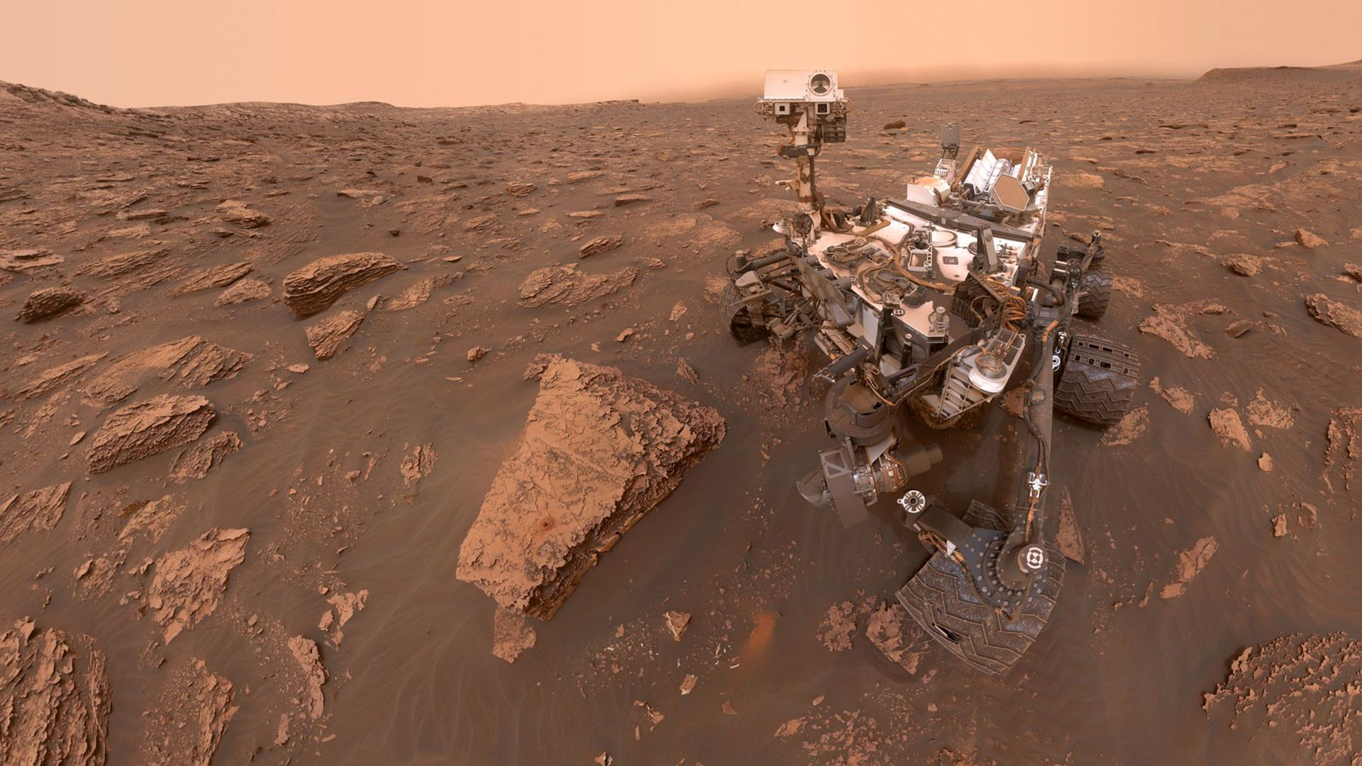 NASA's Curiosity rover in Mars in 2018