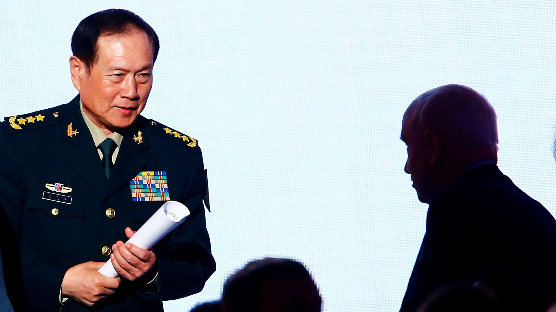 China's Defence Minister Wei Fenghe in Moscow, Russia on April 04, 2018.