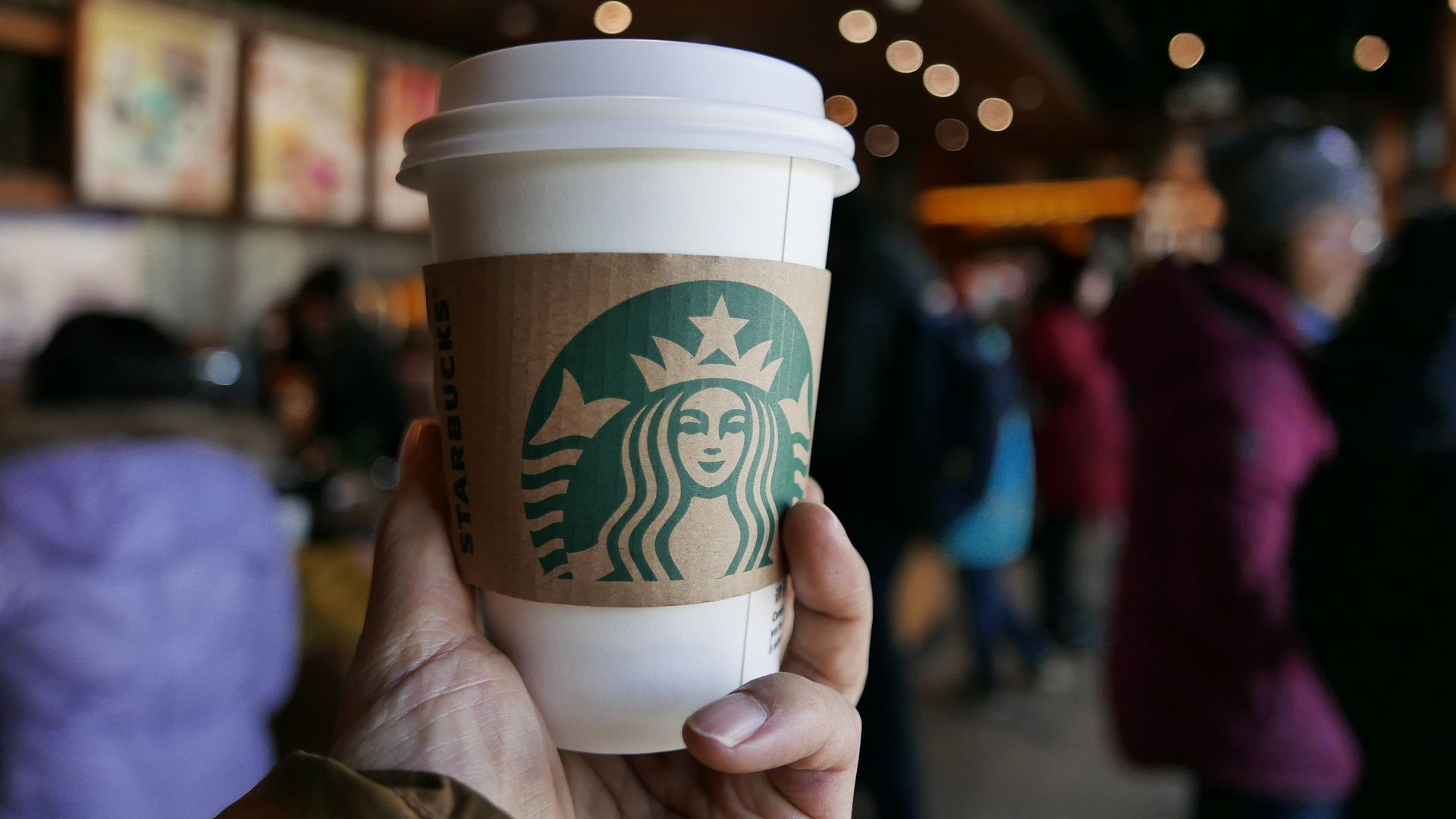 Starbucks Is Going Green Axios