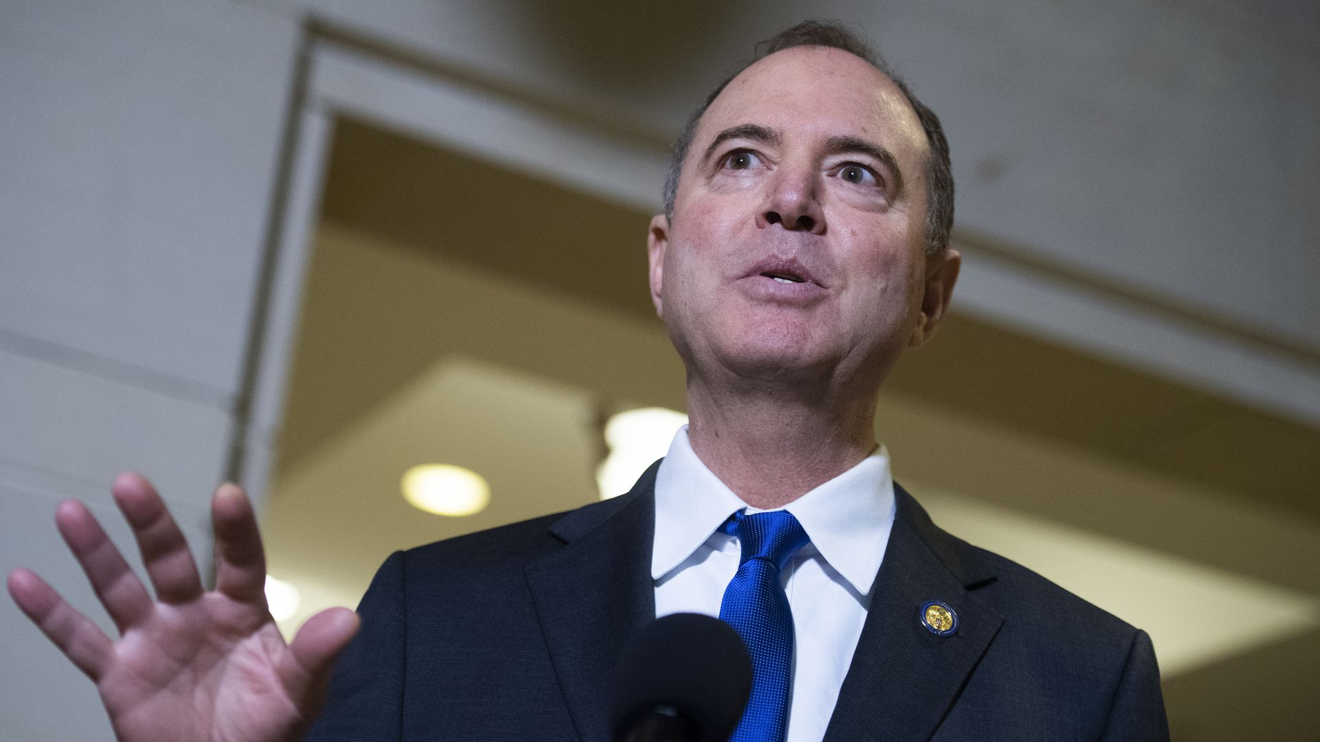 House Intelligence Committee Chairman Adam Schiff, D-Calif., speaks to the media on Monday, November 4