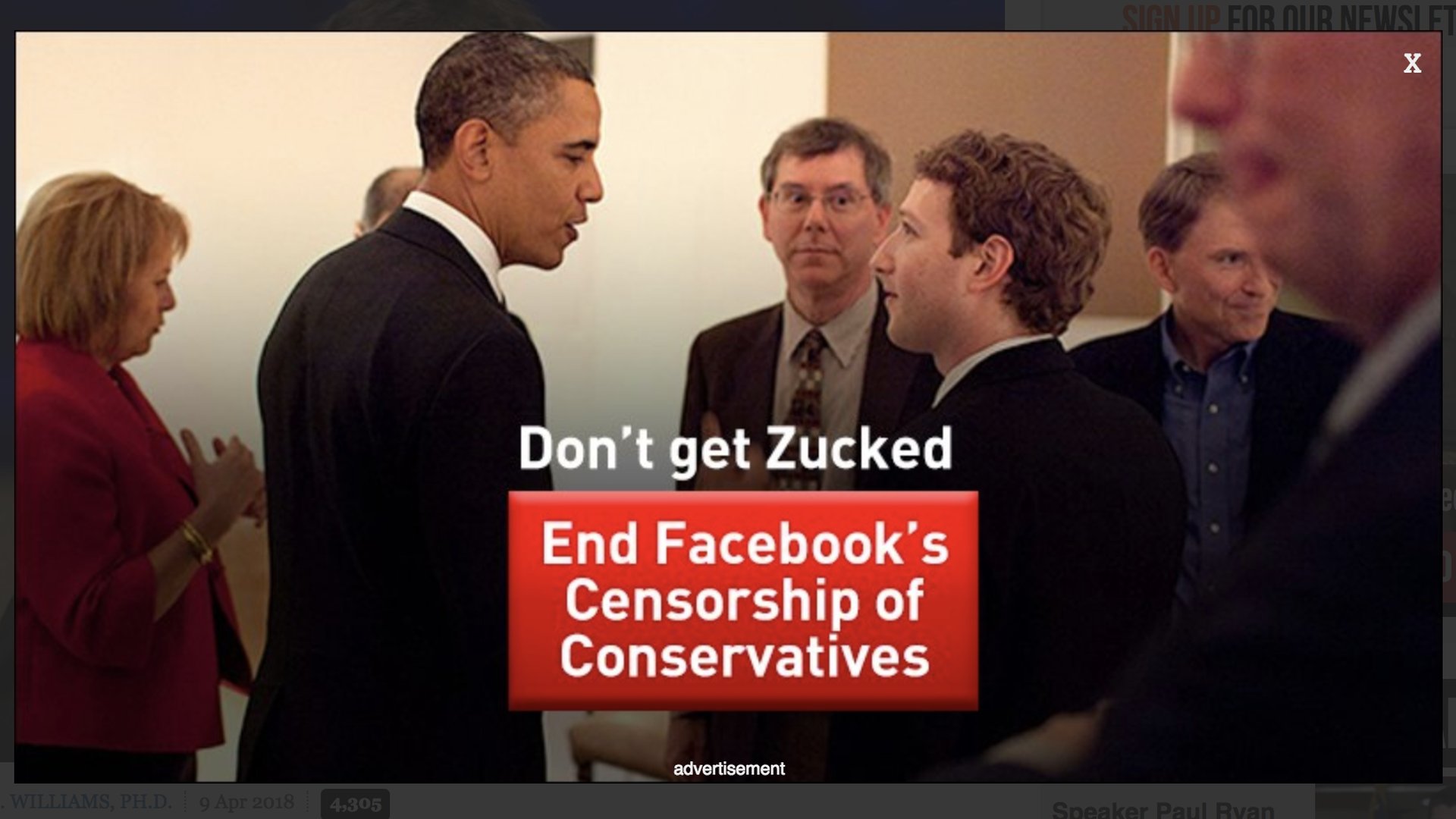 "Ad reading ""Don't Get Zucked"""
