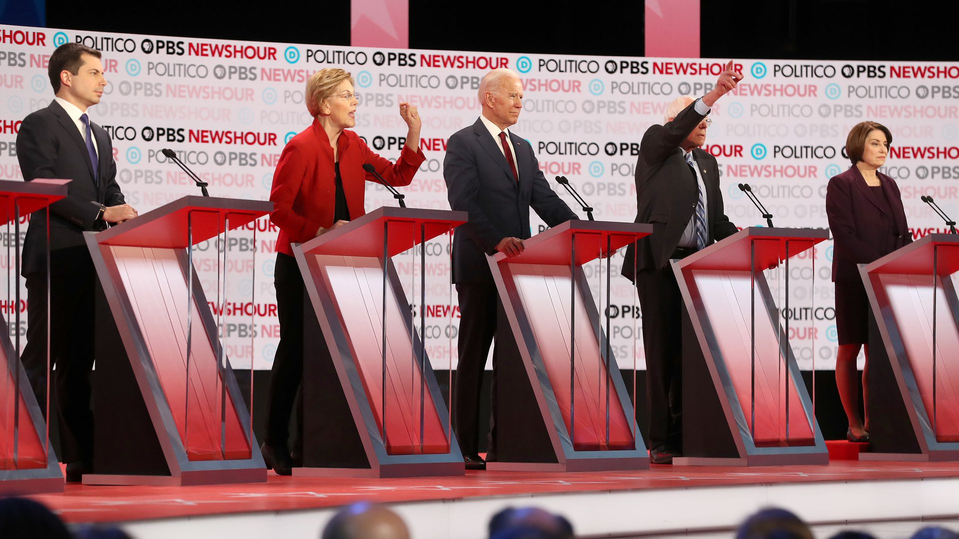 2020 Democrats on the primary debate stage