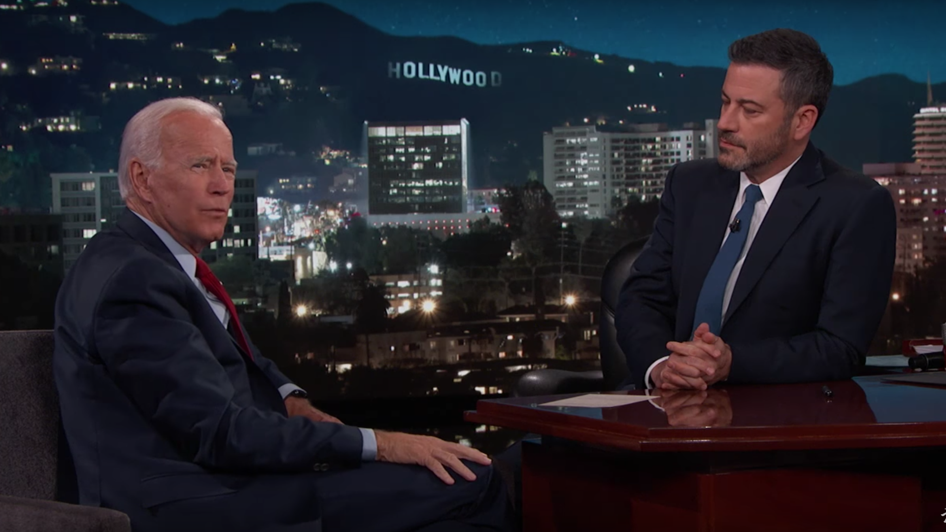 "2020 candidate Joe Biden on ""Jimmy Kimmel Live."""