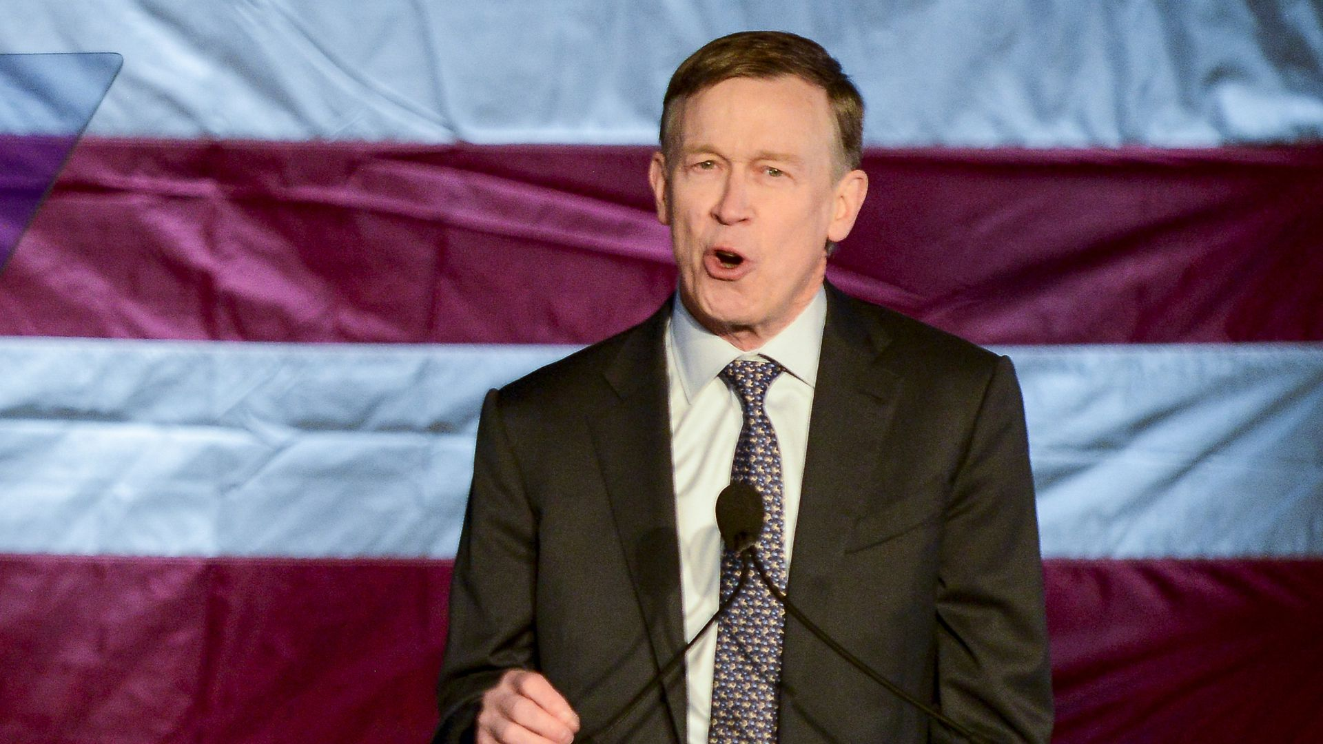Former Colorado Gov. John Hickenlooper addressed  global terrorism and the rise of white nationalism Wednesday.