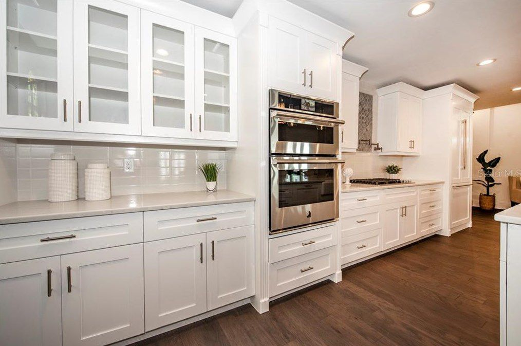 St. Pete church turned luxury home kitchen cabinets