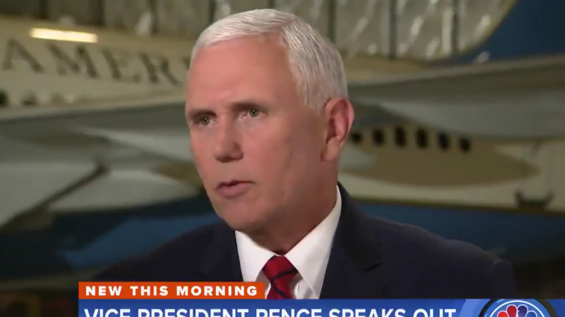 Mike Pence speaks with The Today Show on Thursday morning