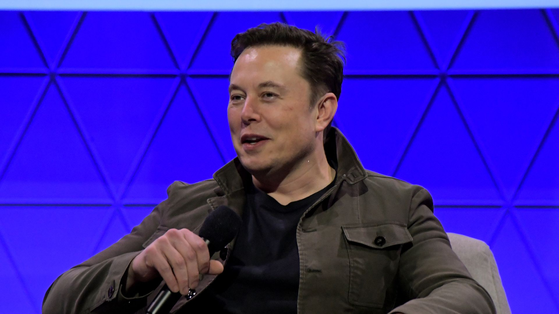 Elon Musk speaks onstage at the Elon Musk in Conversation with Todd Howard panel during E3 2019 at the Novo Theatre on June 13, 2019 in Los Angeles, California.