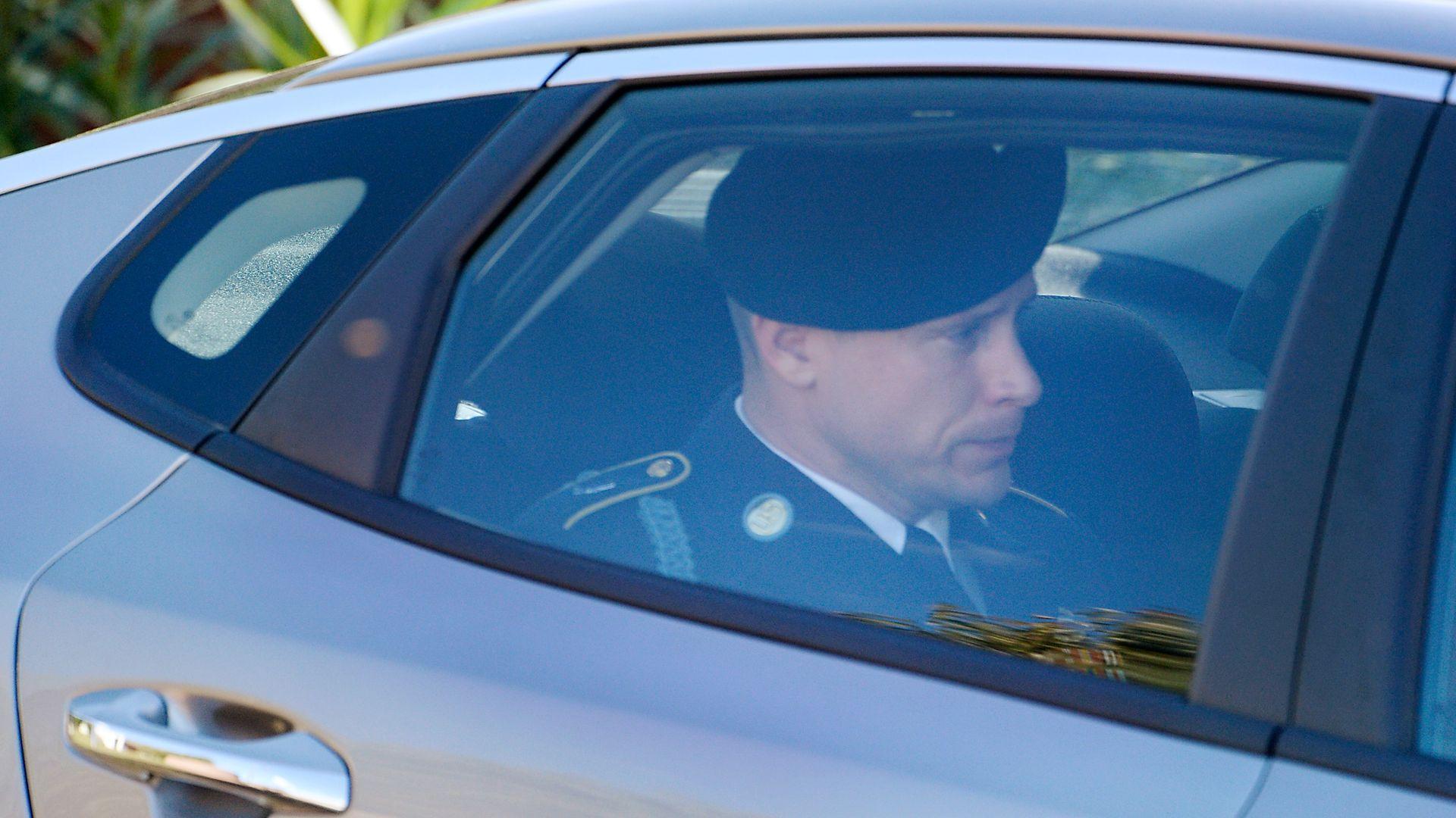 Bowe Bergdahl in a car.
