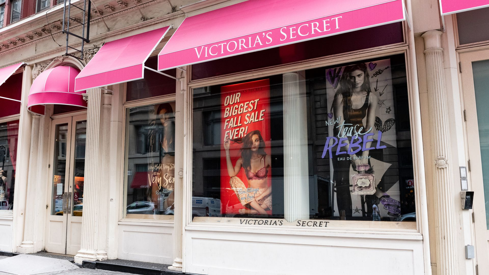 Victoria's Secret store in the SoHo neighbourhood of New York City.