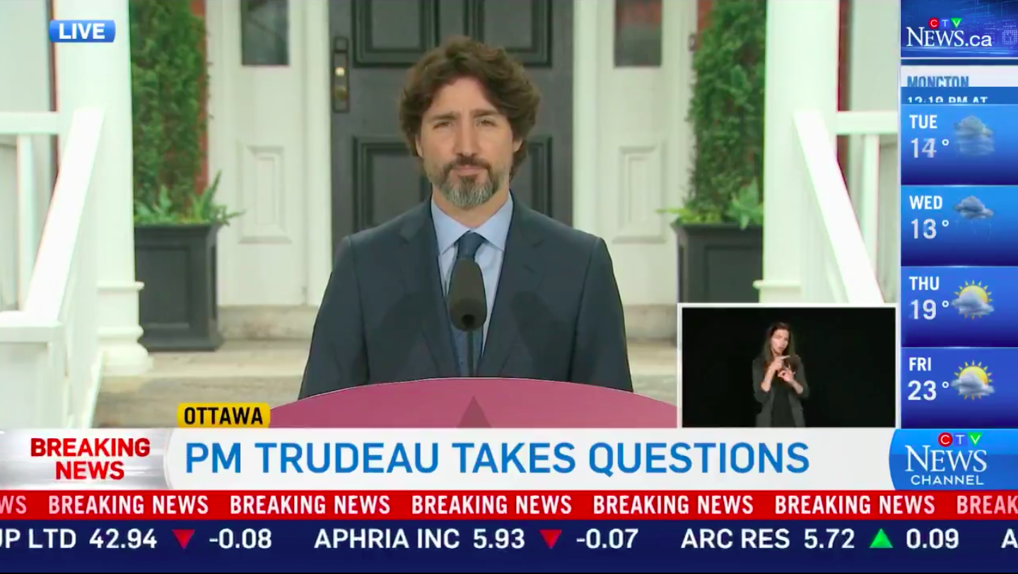 Trudeau silent for 20 seconds when asked to react to Trump's actions against protesters