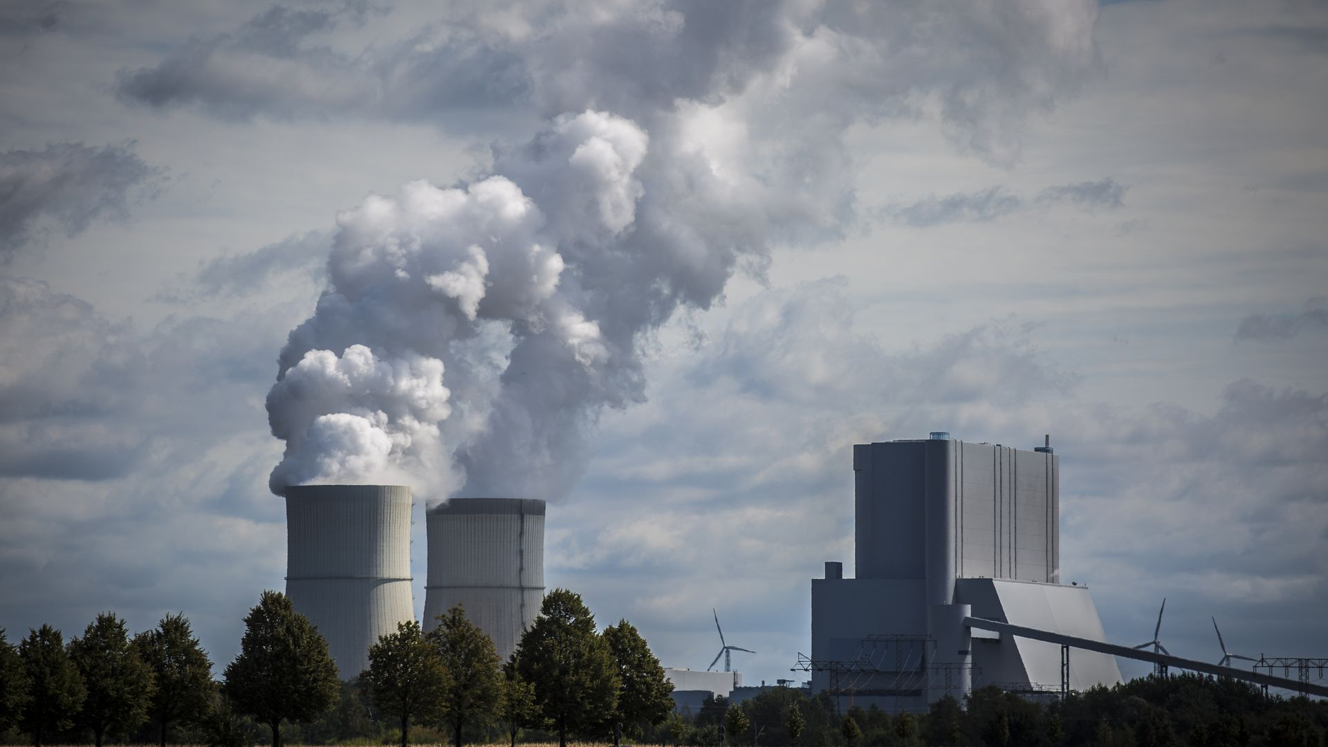 A lignite-fired power station is pictured on August 15, 2018 in Schwarze Pumpe, Germany.