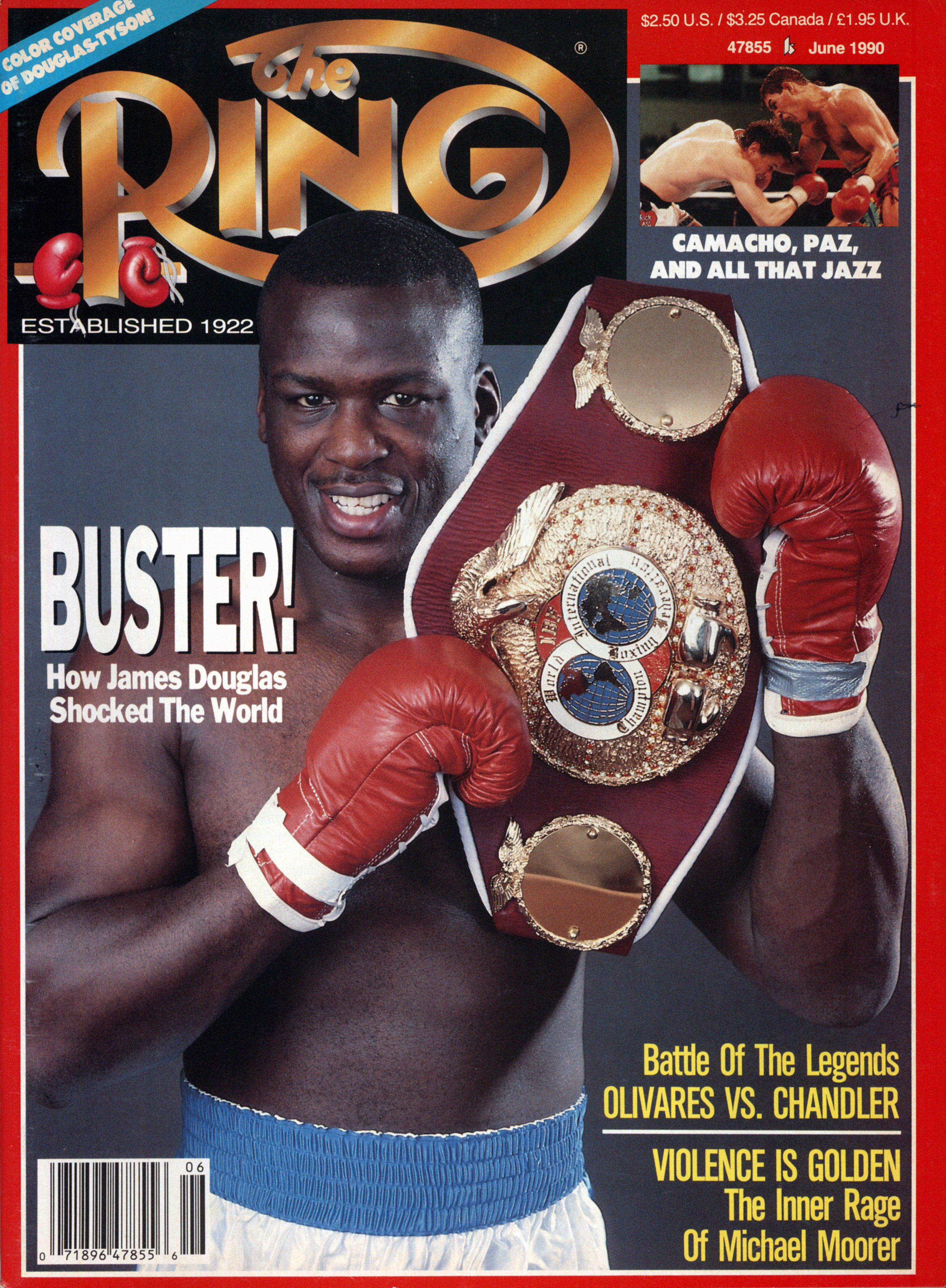 Buster Douglas on the cover of The Ring Magazine