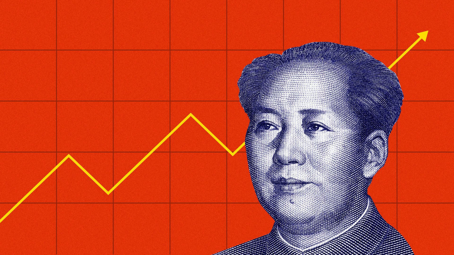 Illustration of China's former leader Mao Zedong