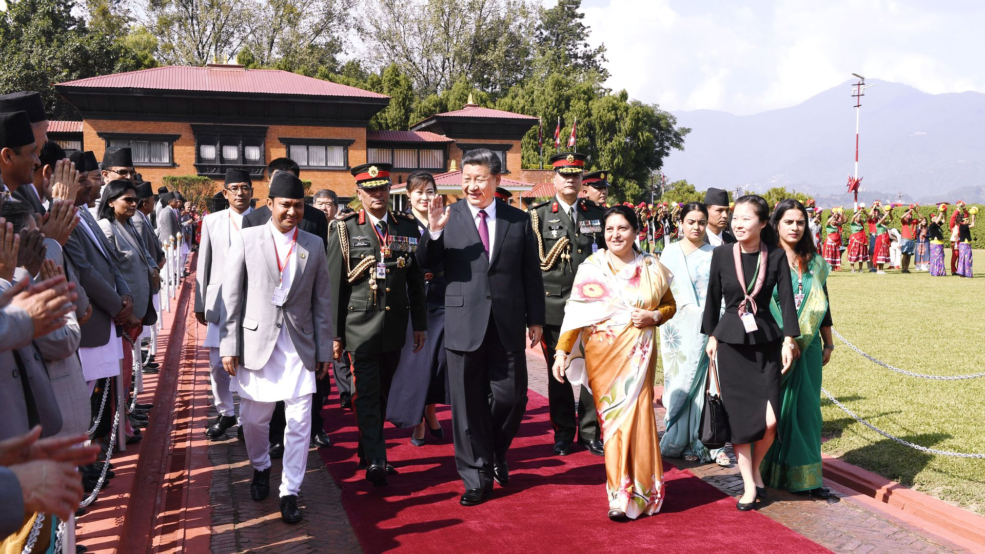 China's growing influence on display in Xi's Nepal visit