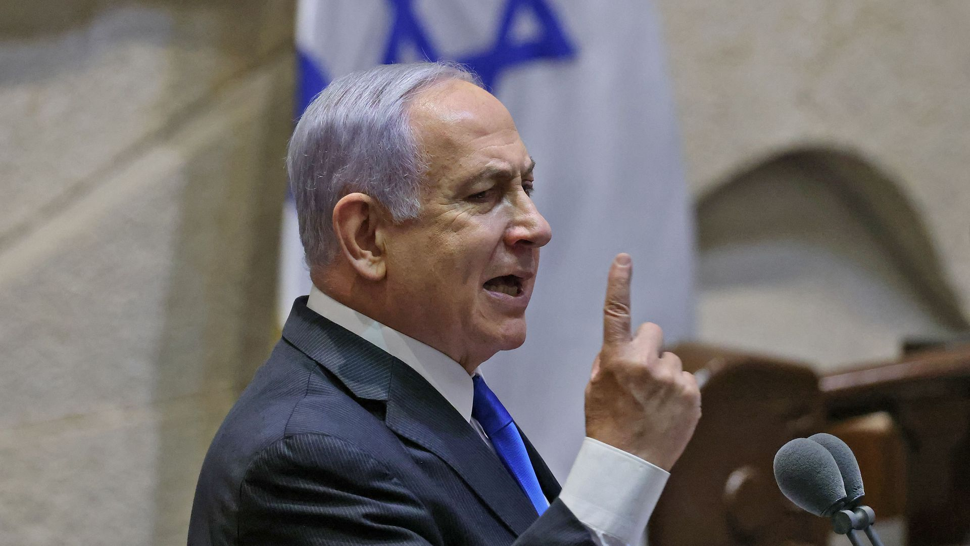 Netanyahu uses last speech as prime minister to attack Biden on Iran - Axios