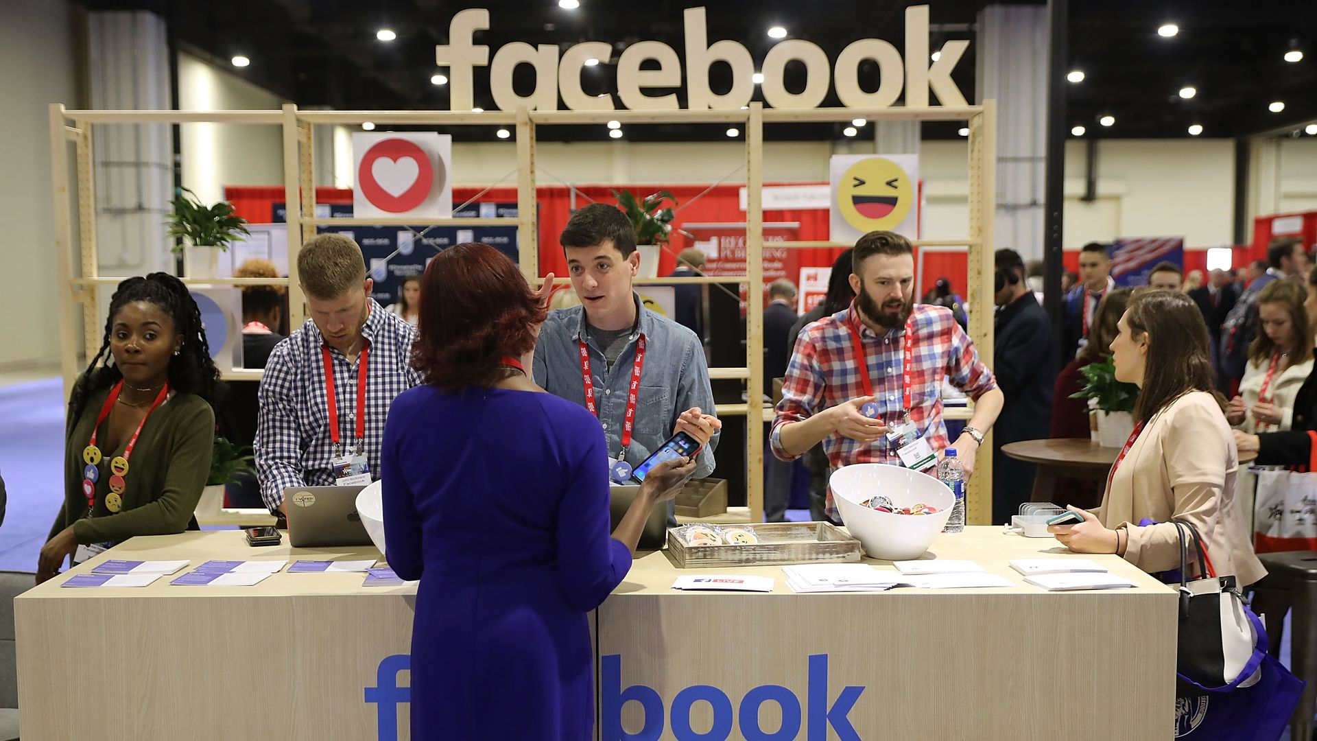 Facebook's booth at CPAC.