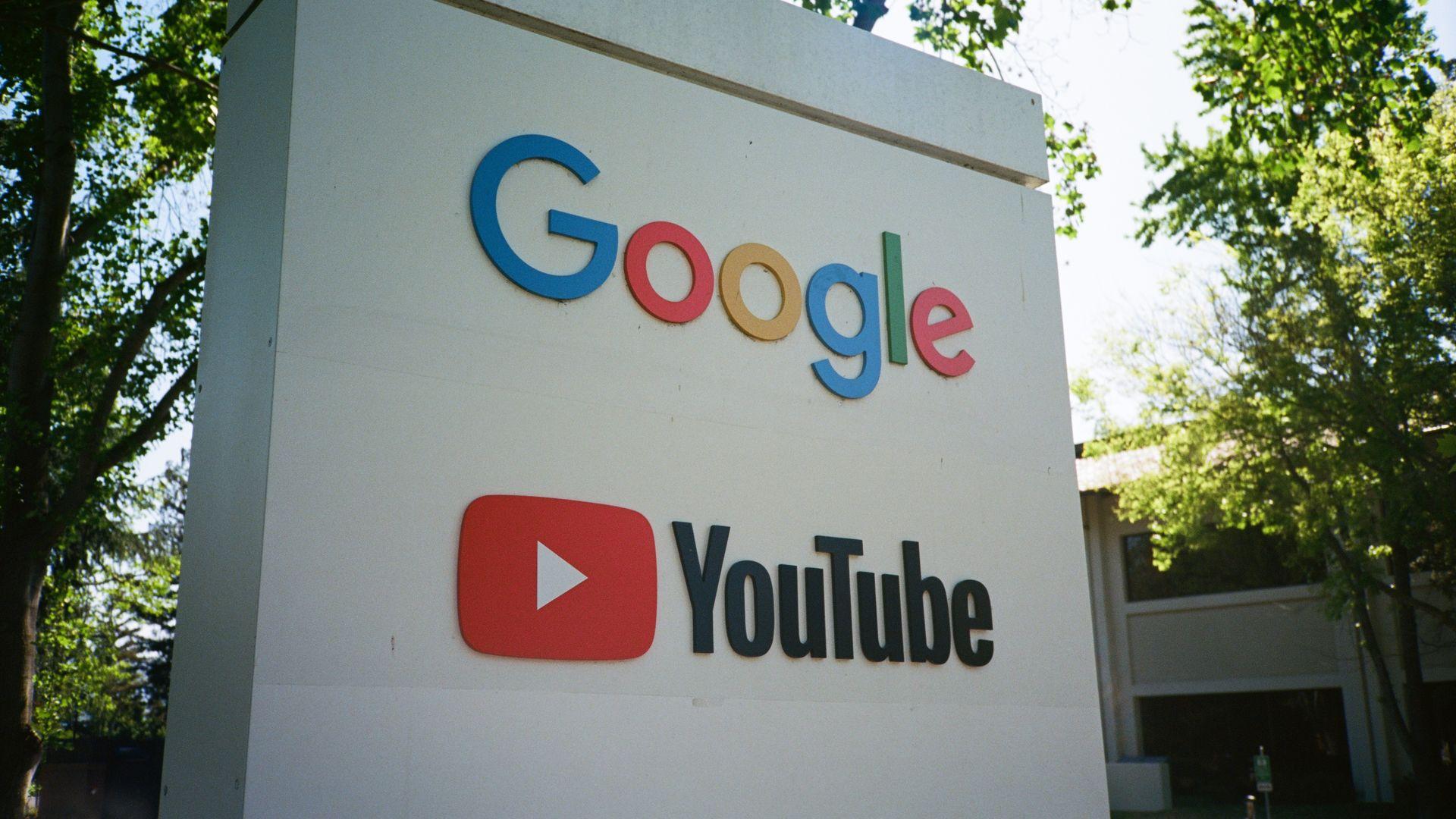 Google Youtube sign