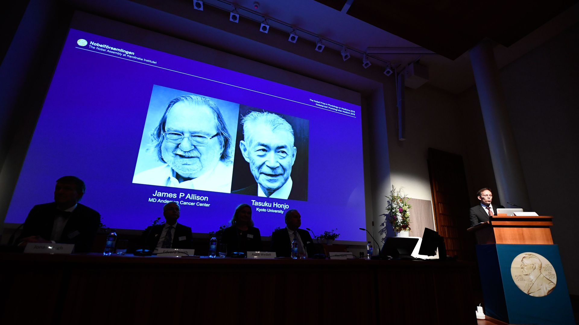Cancer researchers recognized for receiving Nobel prize