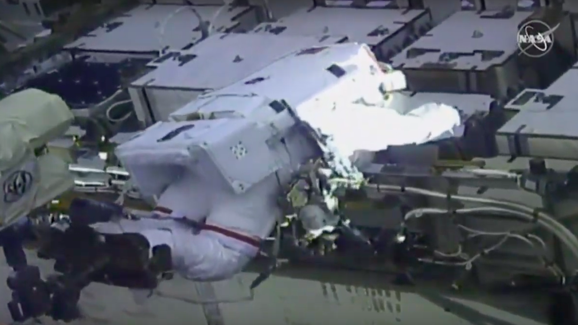 Astronauts step outside for first all-female spacewalk in history