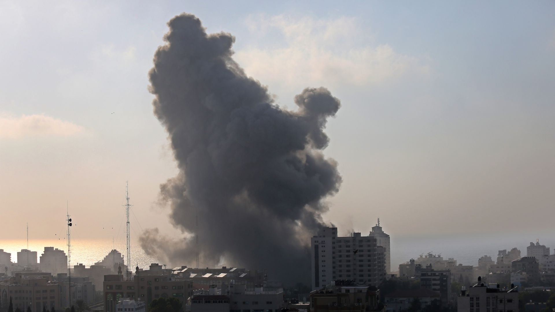 The aftermath of airstrikes in Gaza