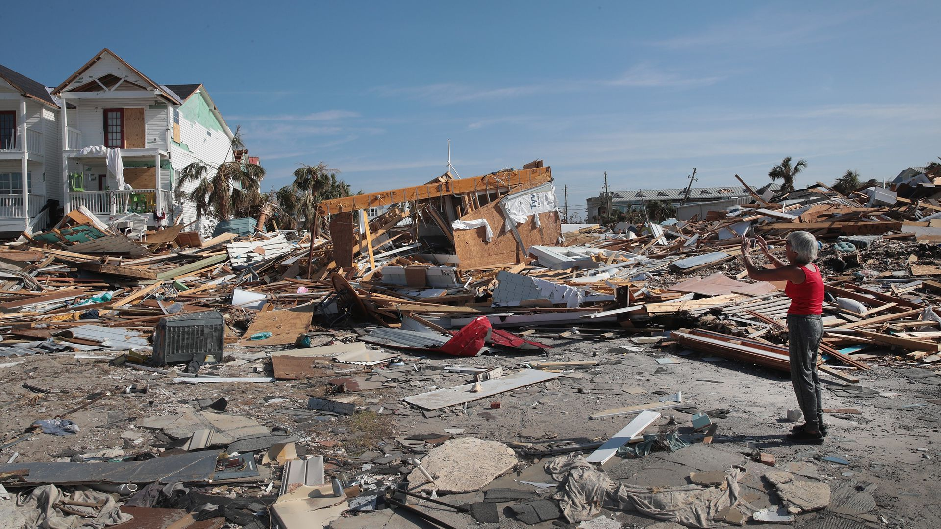 Damage to a home after Hurricane Michael