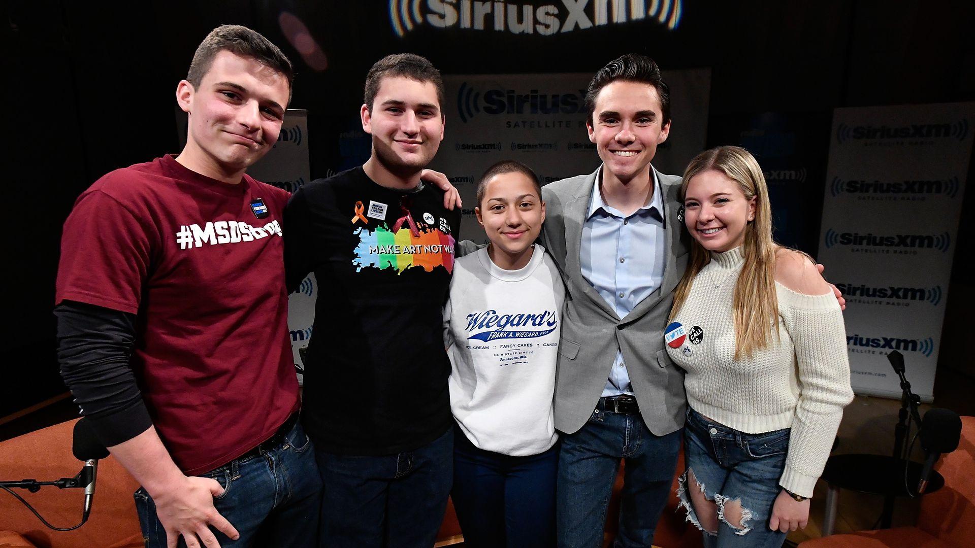 Florida, Marjory Stoneman Douglas High School Students and activists. Photo: Larry French/Getty Images for SiriusXM
