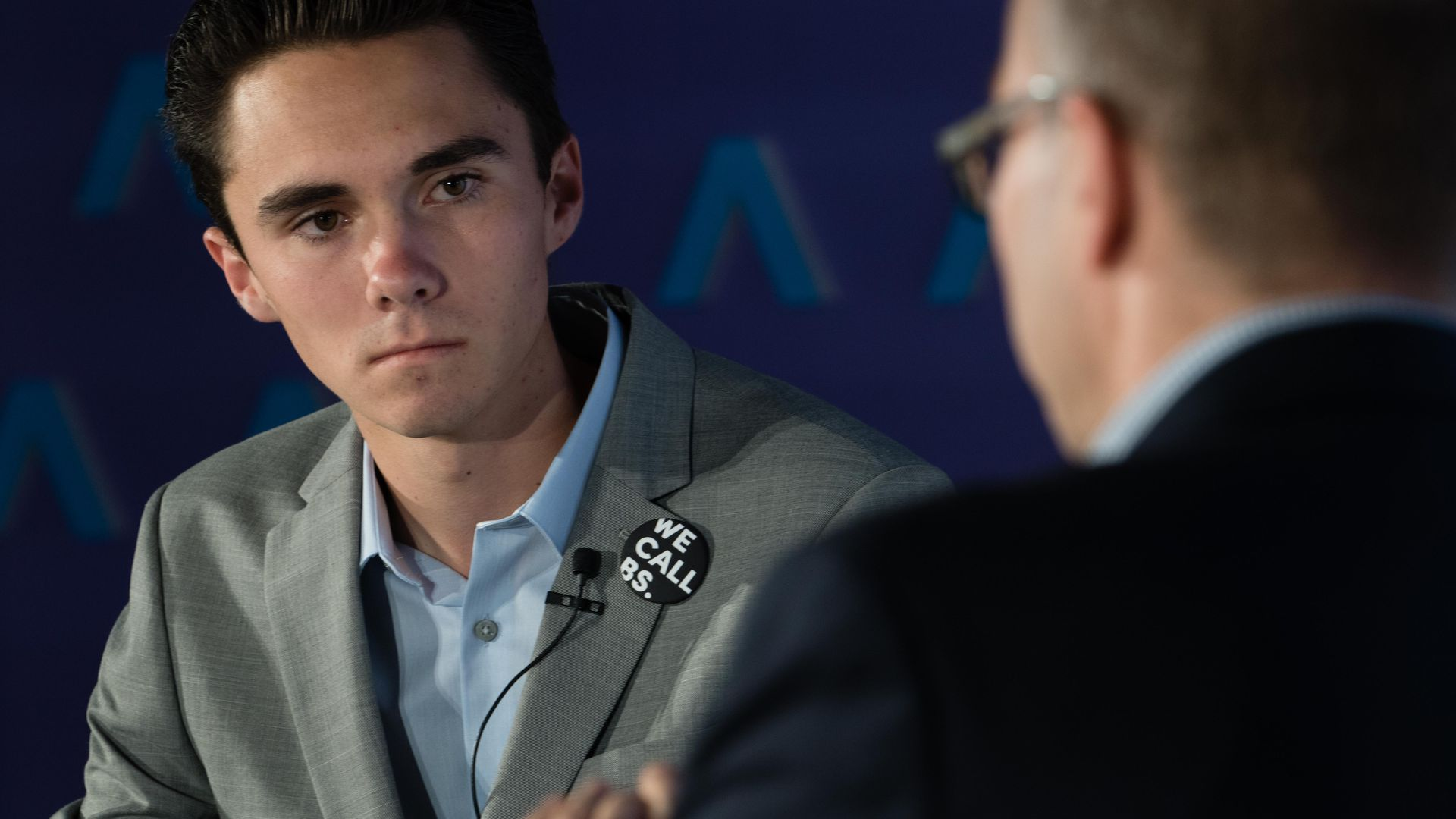 David Hogg with Axios' Mike Allen.