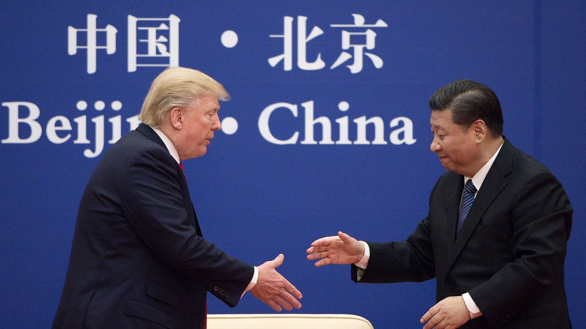 Trump and China's president Xi
