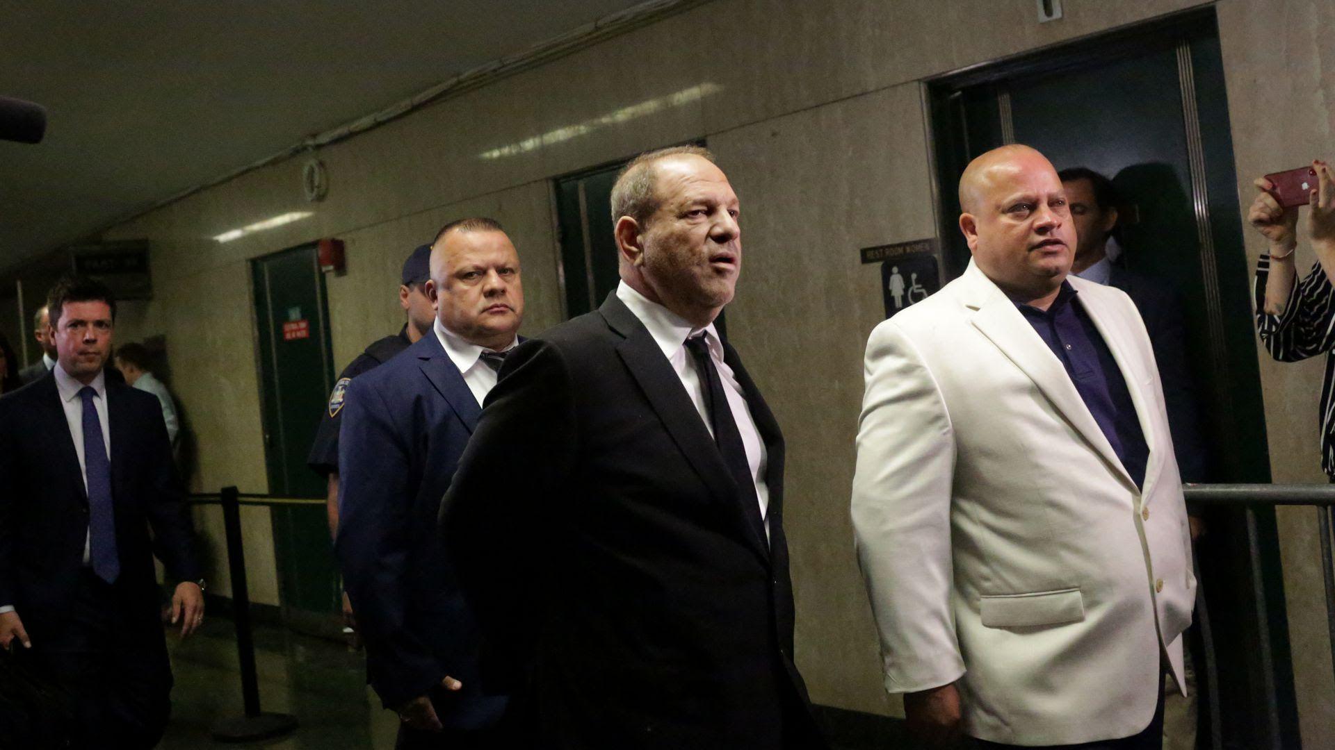 Harvey Weinstein (C). Photo: Yana Paskova/Getty Images