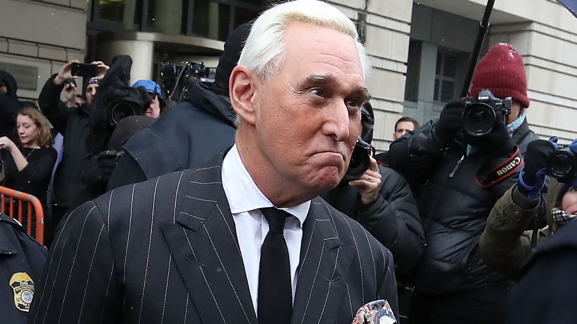 Roger Stone says his book didn't violated the gag order because it had already been published online.
