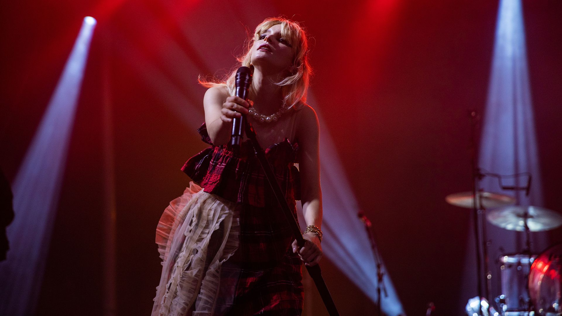 Lauren Mayberry of Chvrches performs on stage during Day In Day Out music festival at Seattle Center on September 05, 2021 in Seattle, Washington.