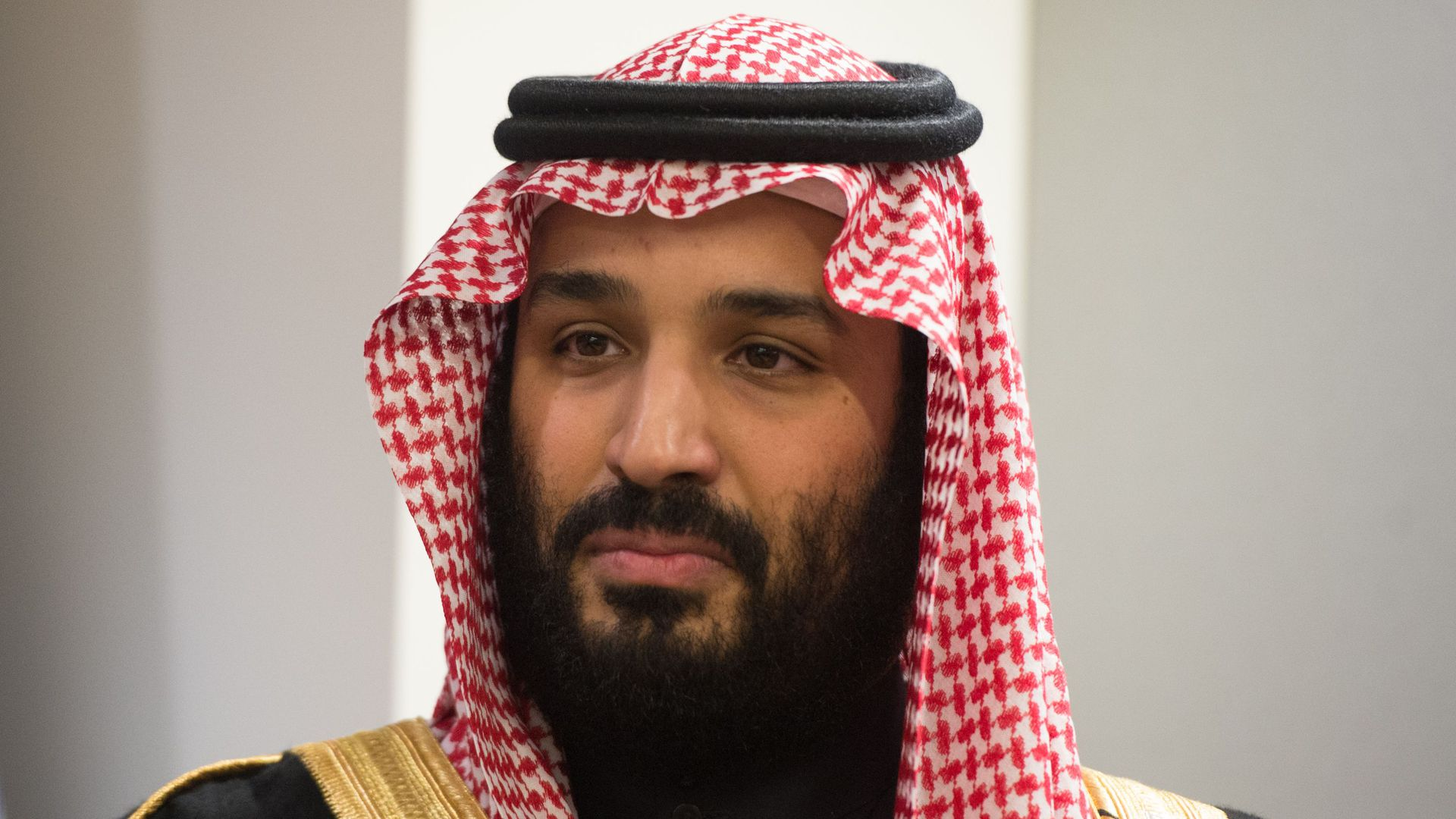 Head shot of Prince Mohammed bin Salman Al Saud, Crown Prince, Kingdom of Saudi Arabia