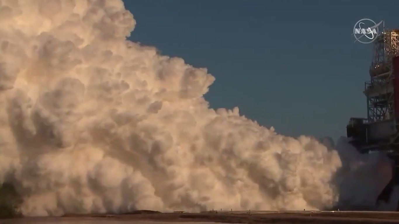 NASA stages test of its next huge rocket