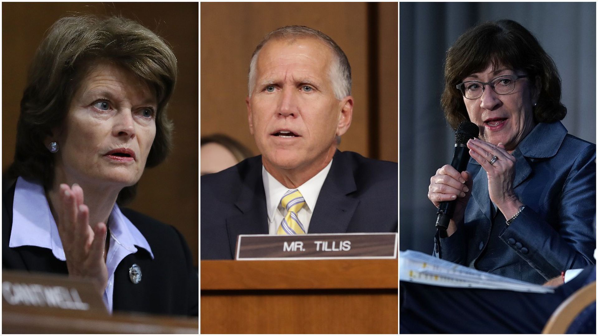 Murkowski, Tillis and Collins