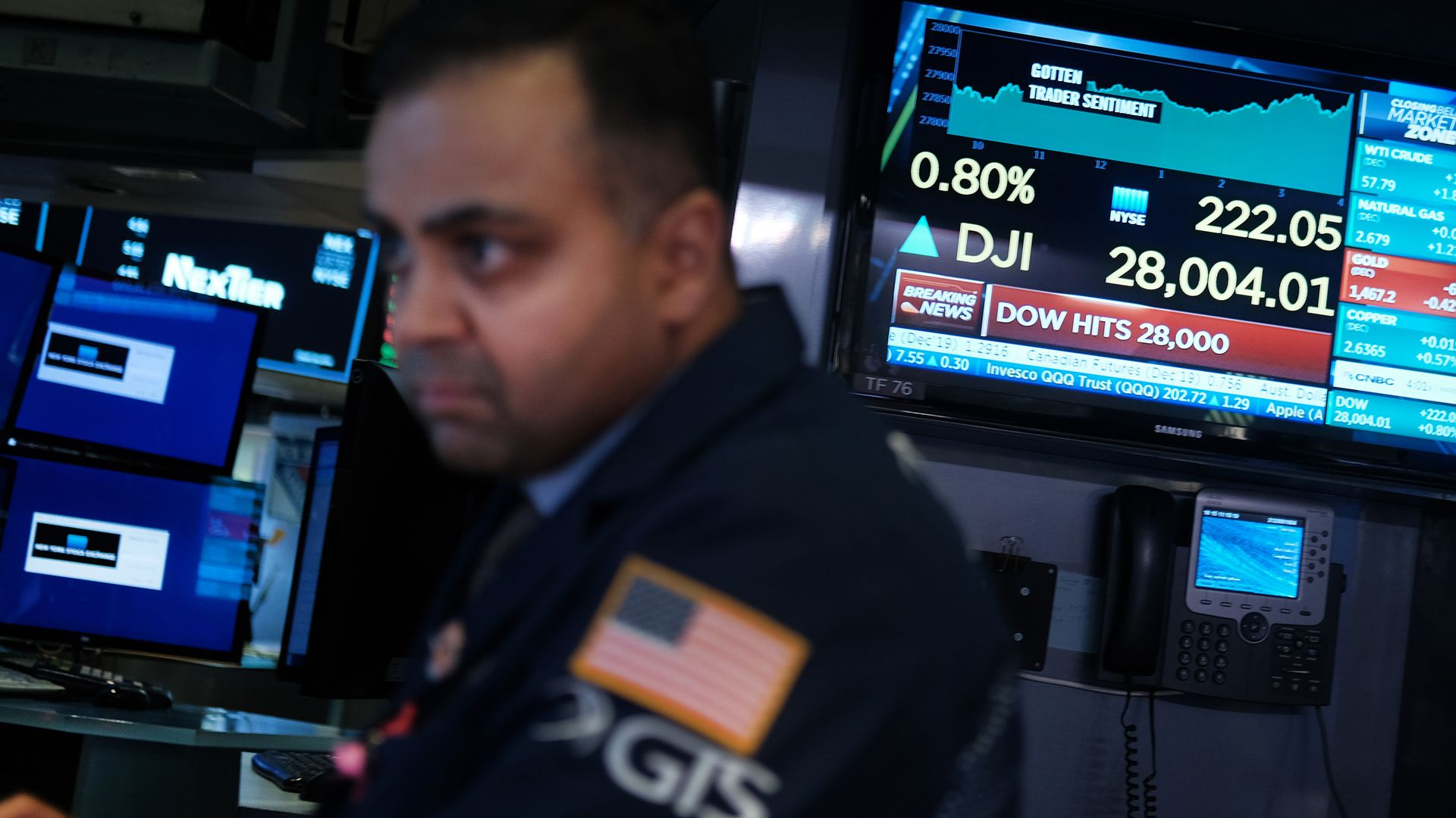 Traders work on the floor of the New York Stock Exchange (NYSE) on Nov. 15.