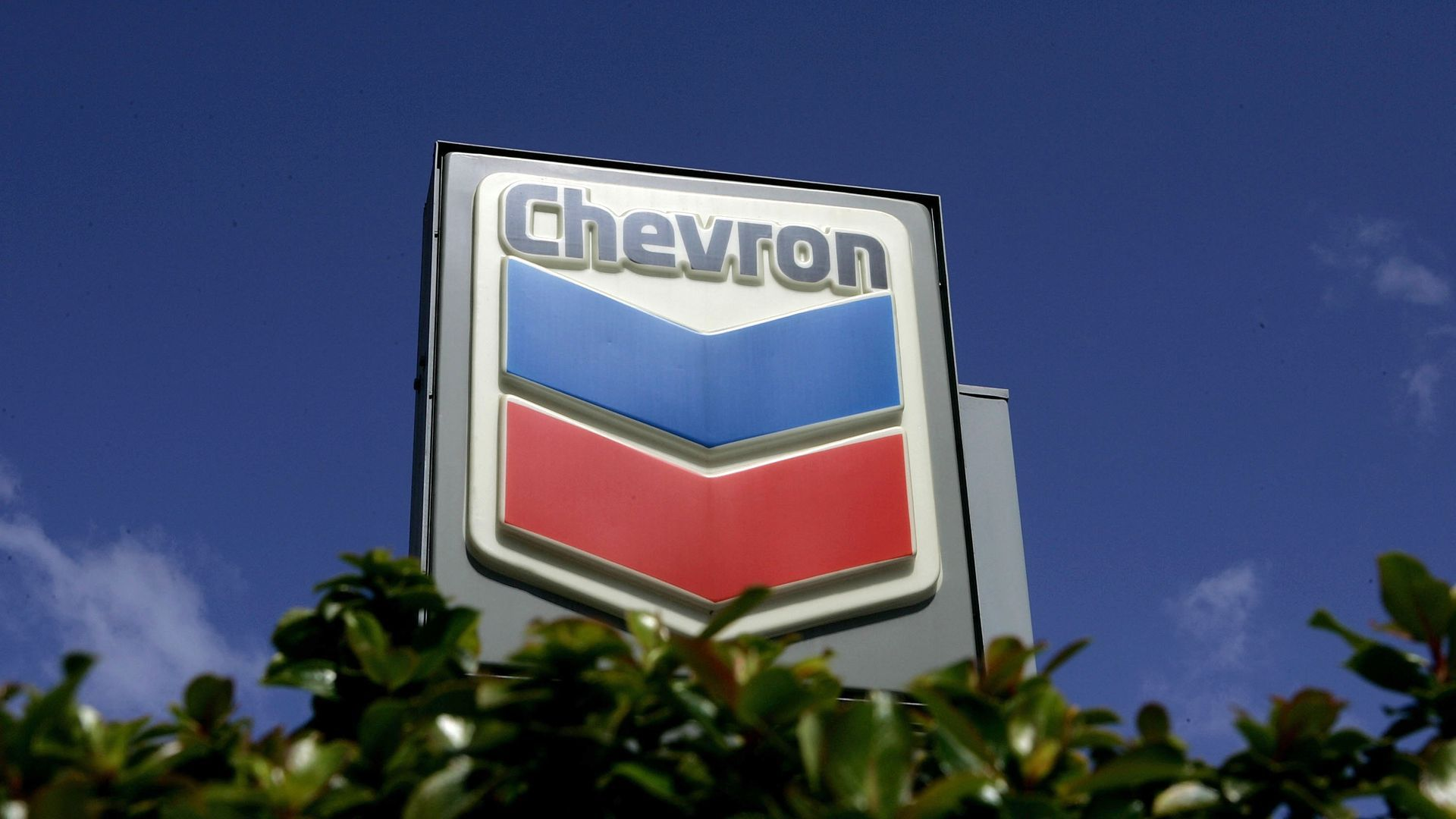 Chevron sign outside