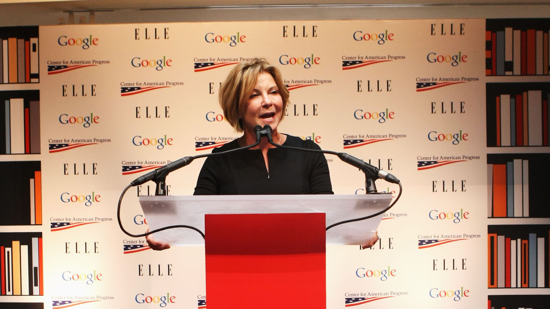 Susan Molinari speaks at the celebration for leading women in Washington hosted by GOOGLE, ELLE, and The Center for American Progress