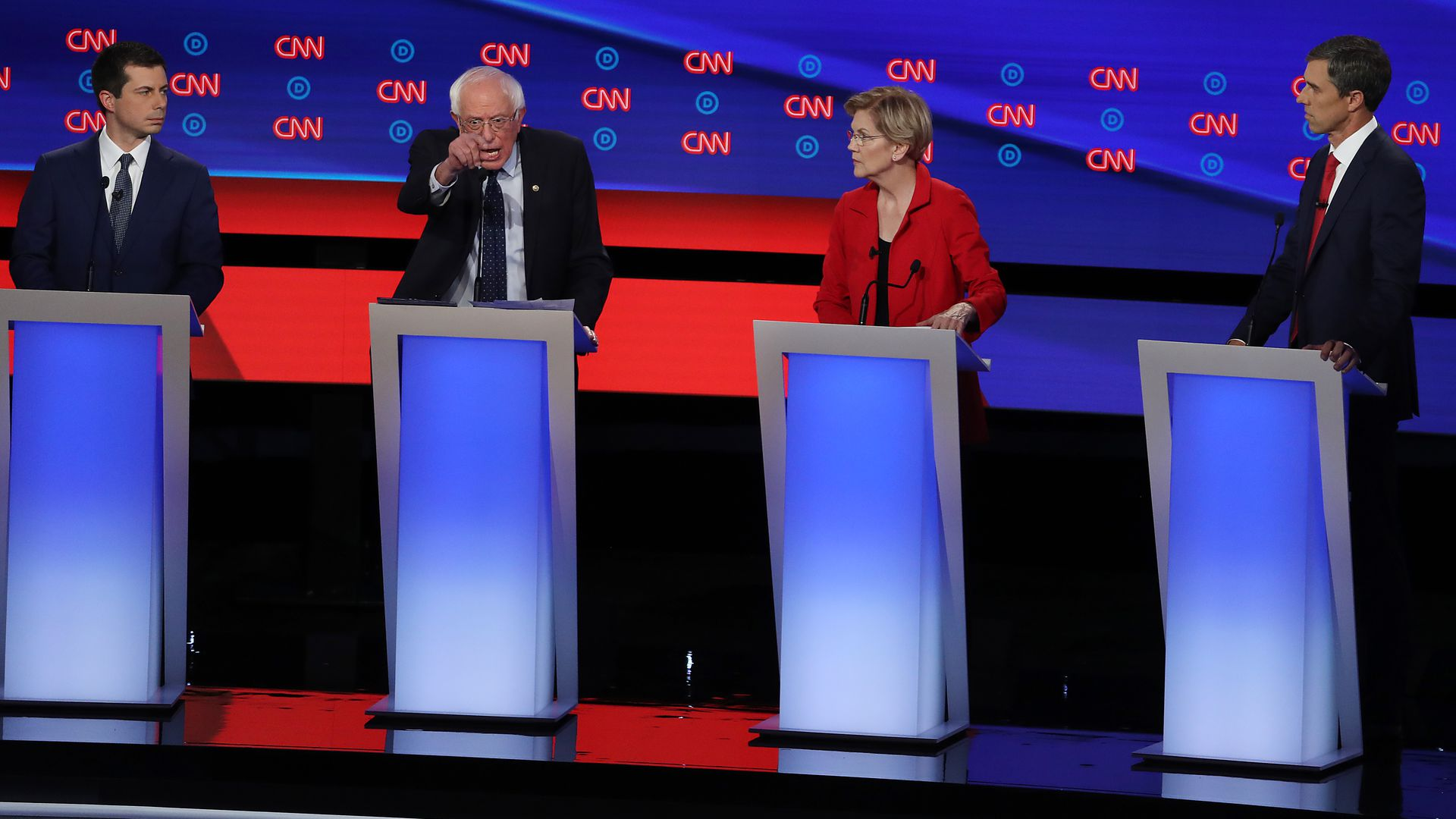 Democratic debate in Detroit. Justin Sullivan/Getty Images