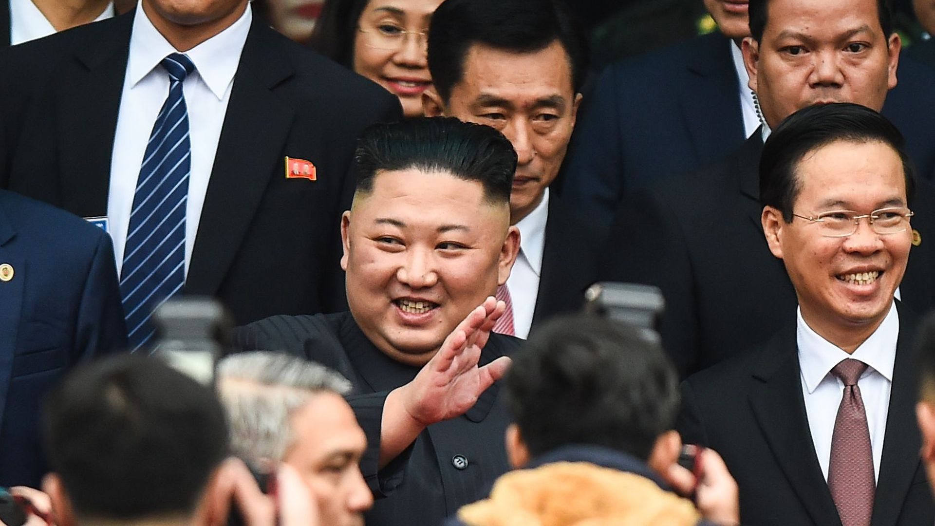 North Korea leader Kim Jong un arrives in Vietnam ahead of his summit with President Trump this week.