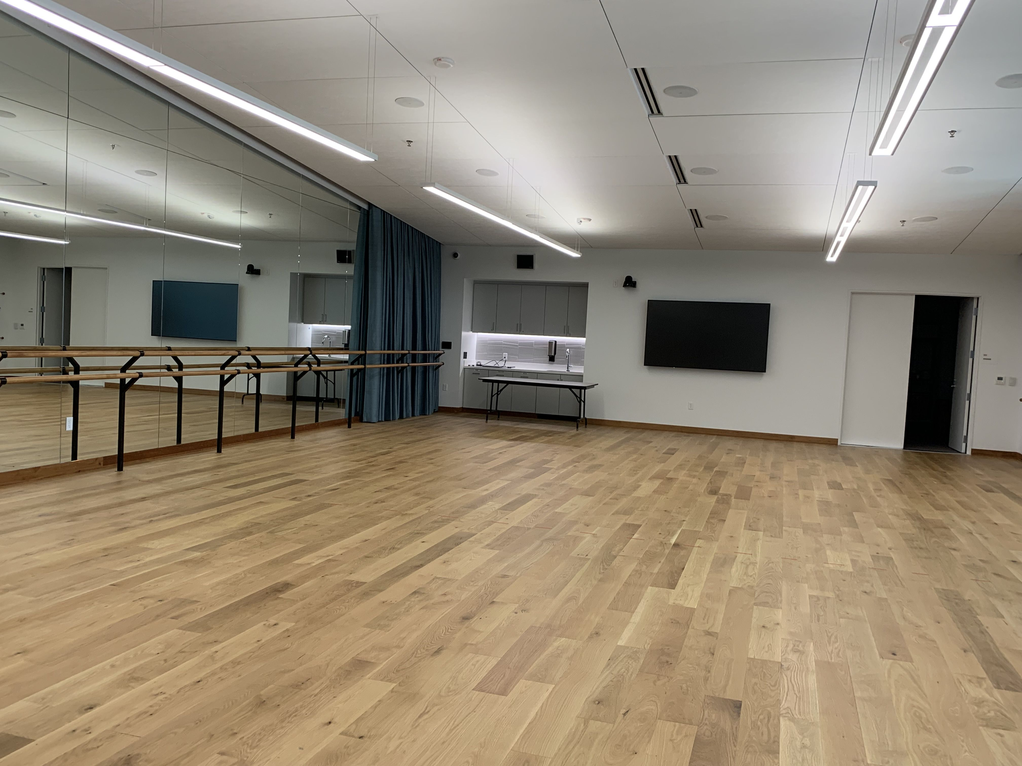 A photo of a dance studio at the Fayetteville library.