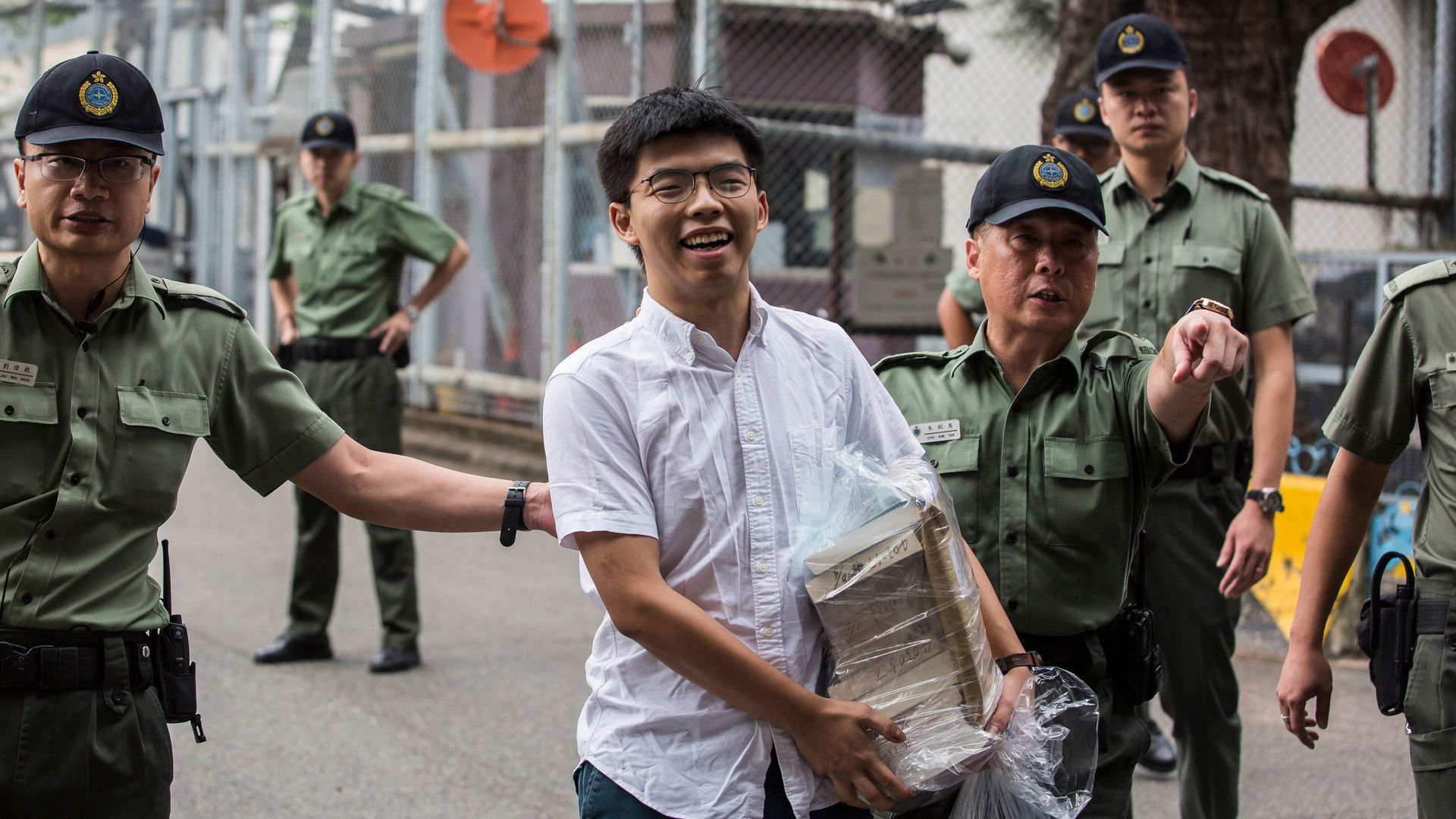 Joshua Wong is freed from prison.
