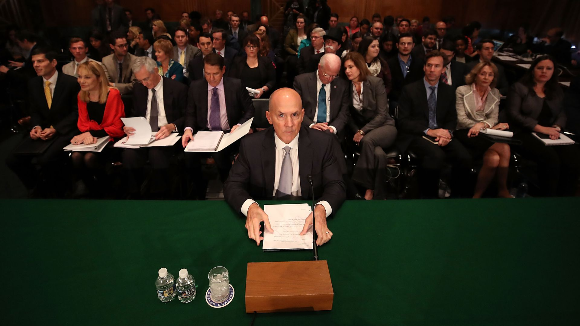 Richard Smith sits before a Congressional hearing.