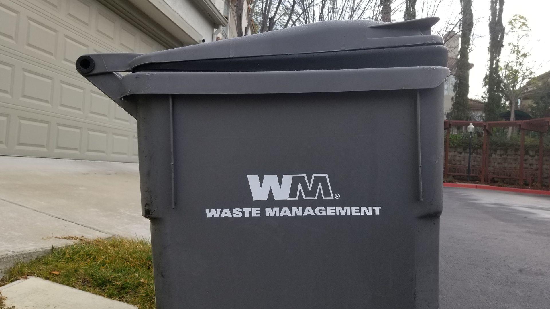 Waste Management trash can