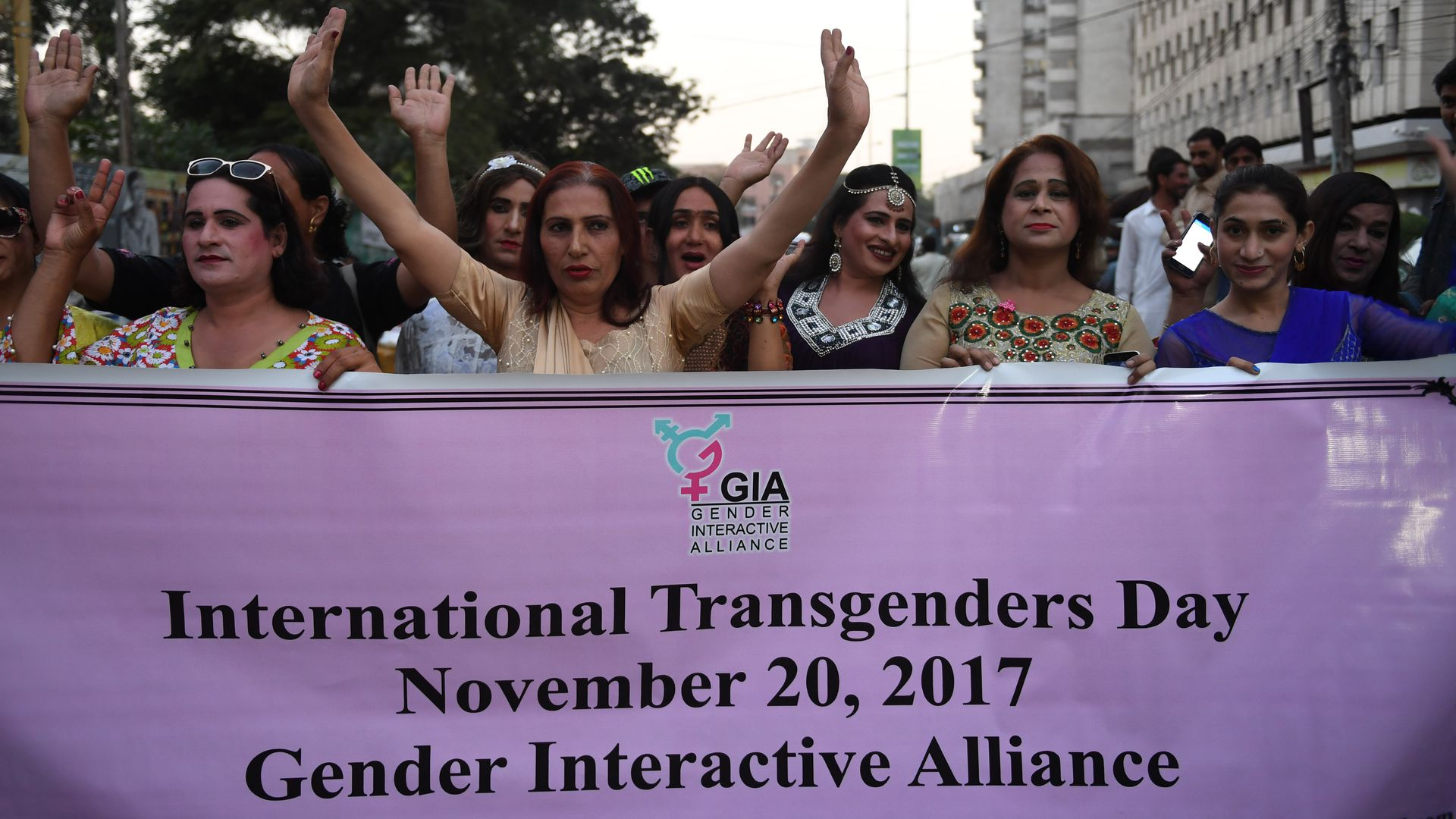 Pakistani transgender activists.