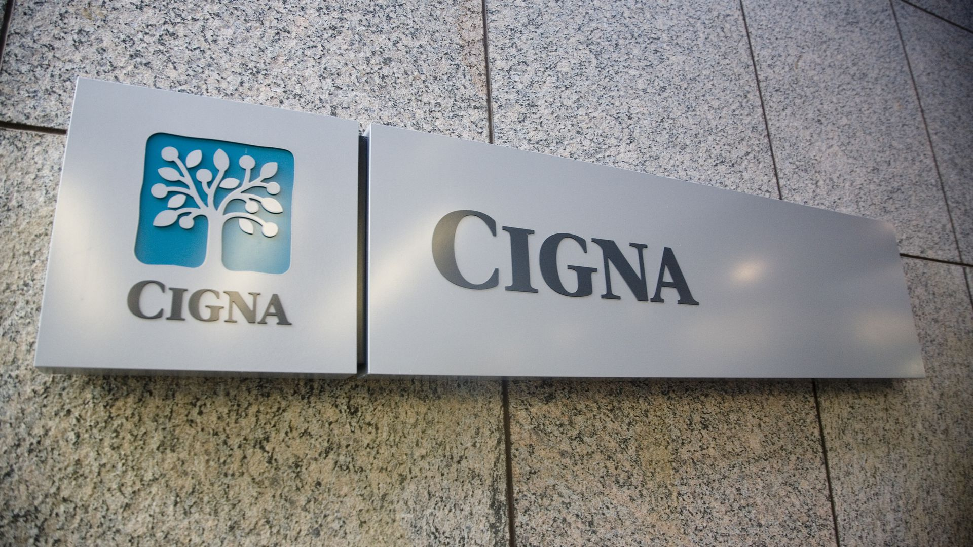 Sign outside of Cigna headquarters.