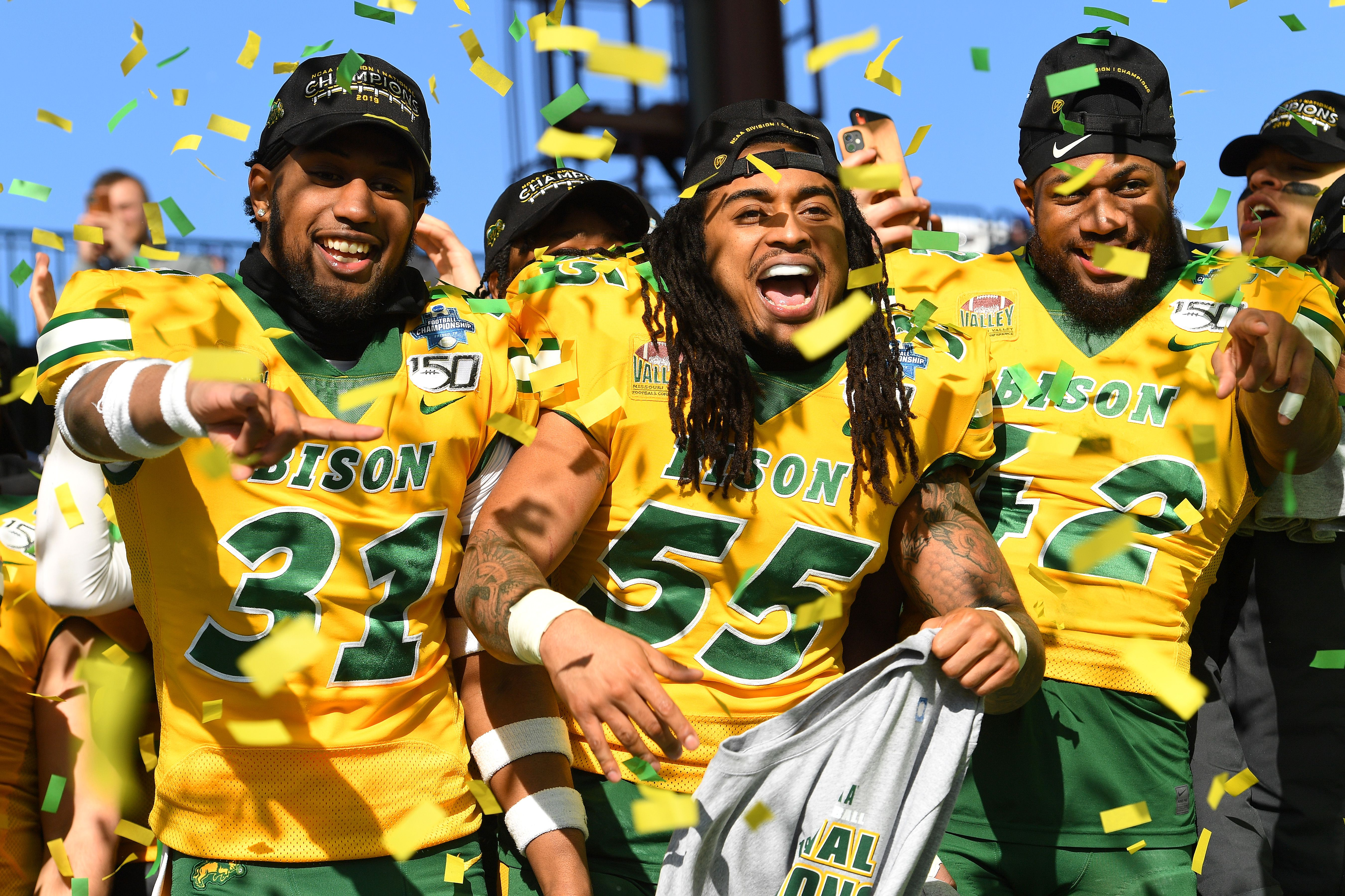 North Dakota State team celebrating