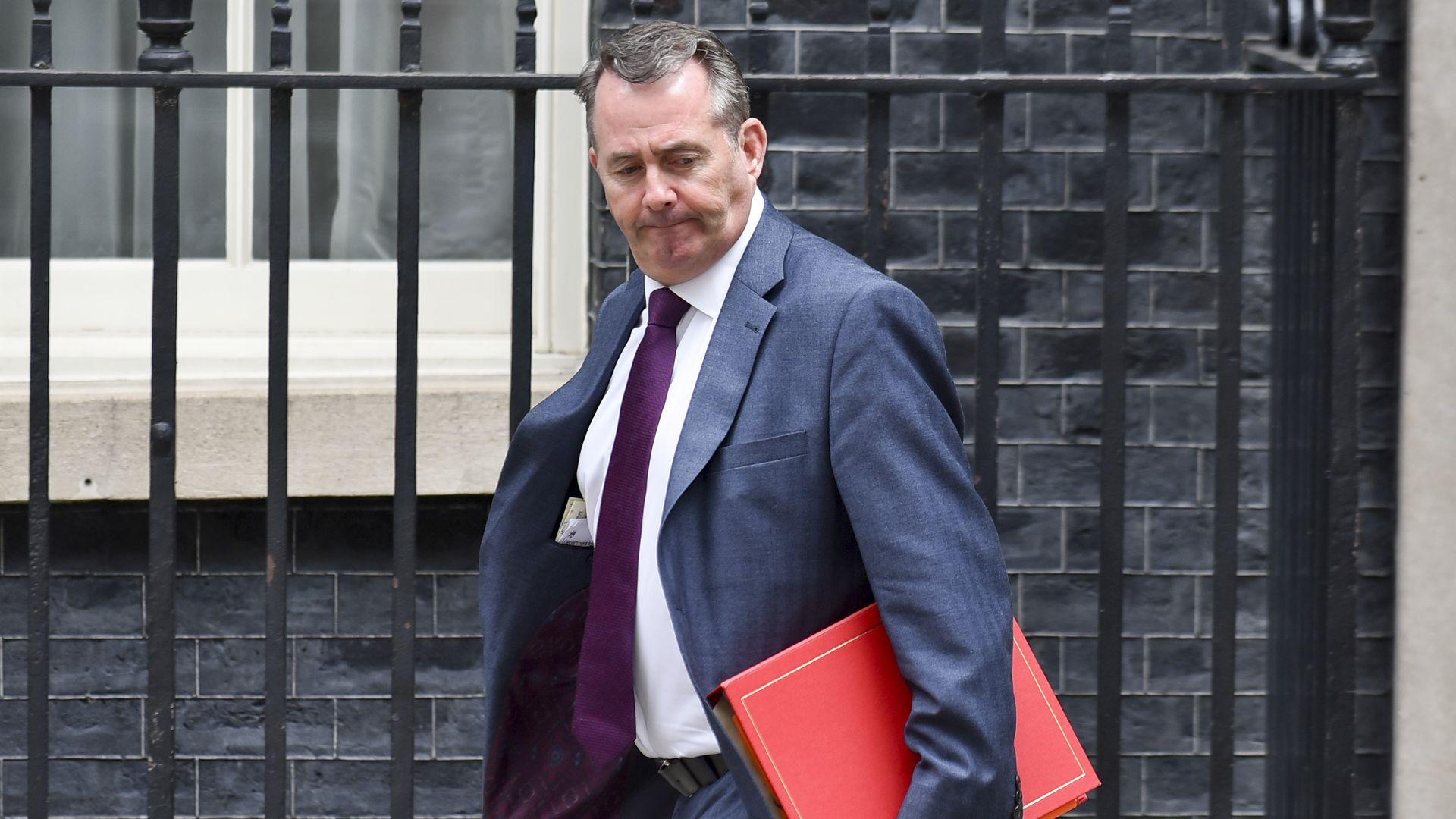 Britain's International Trade Secretary Liam Fox. Photo: Alberto Pezzali/NurPhoto via Getty Images