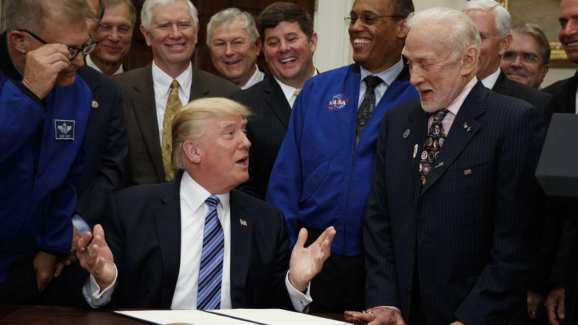 Trump and Buzz Aldrin